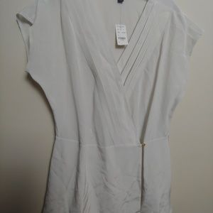 Brooks brothers wrap blouse